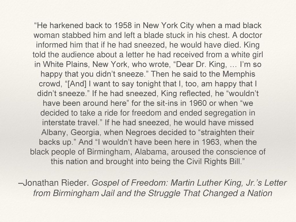 """Letter from a Birmingham Jail"""" ppt video online"""